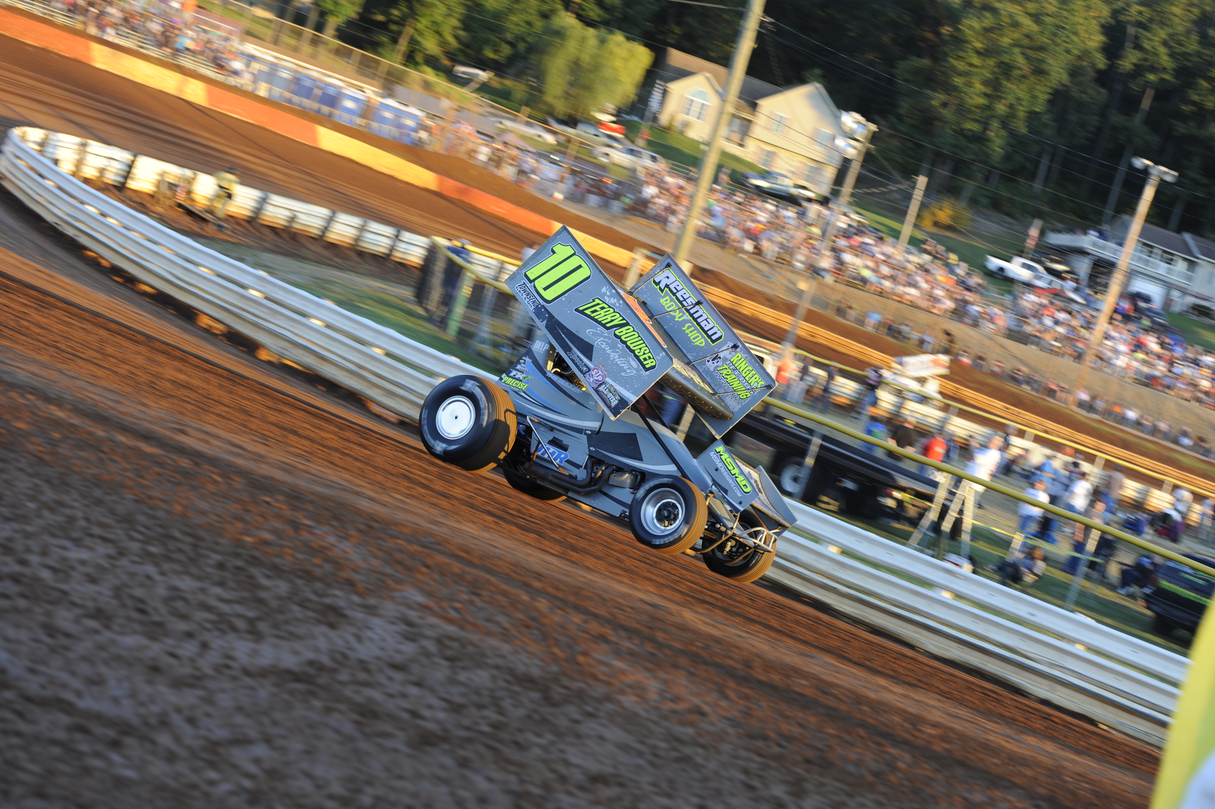 Carl Bowser racing at Lincoln Speedway
